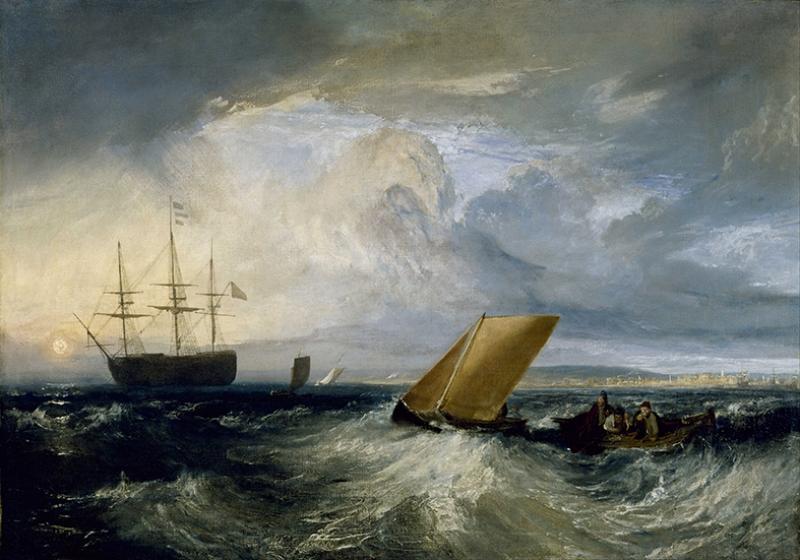Joseph Mallord Wiliam Turner Denizlerde Yağlı Boya Sanat Kanvas Tablo