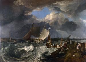 Joseph Mallord Wiliam Turner Fırtına Yağlı Boya Sanat Kanvas Tablo