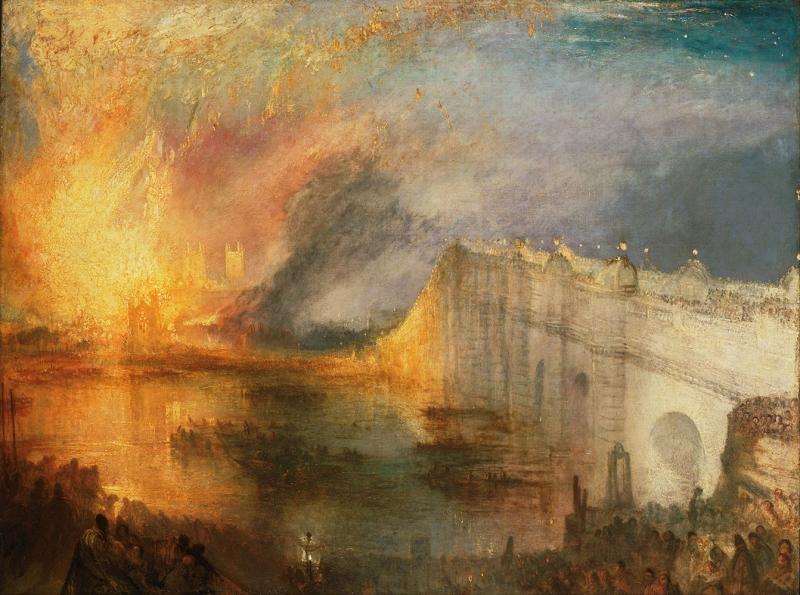 Joseph Mallord William Turner Lordların Evlerinin Yanması Klasik Sanat Kanvas Tablo
