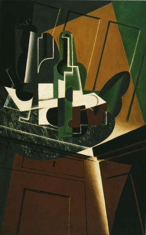 Juan Gris Ucurumun Kiyisinda Yagli Boya Klasik Sant Kanvas Tablo