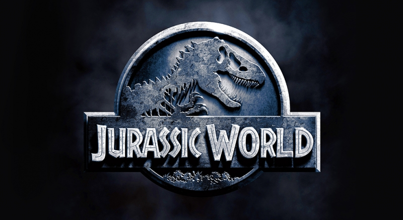 Jurrasic World Logo Sinema Kanvas Tablo