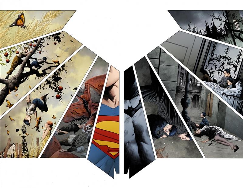 Justice League Takımı Batman ve Süperman Süper Kahramanlar Kanvas Tablo