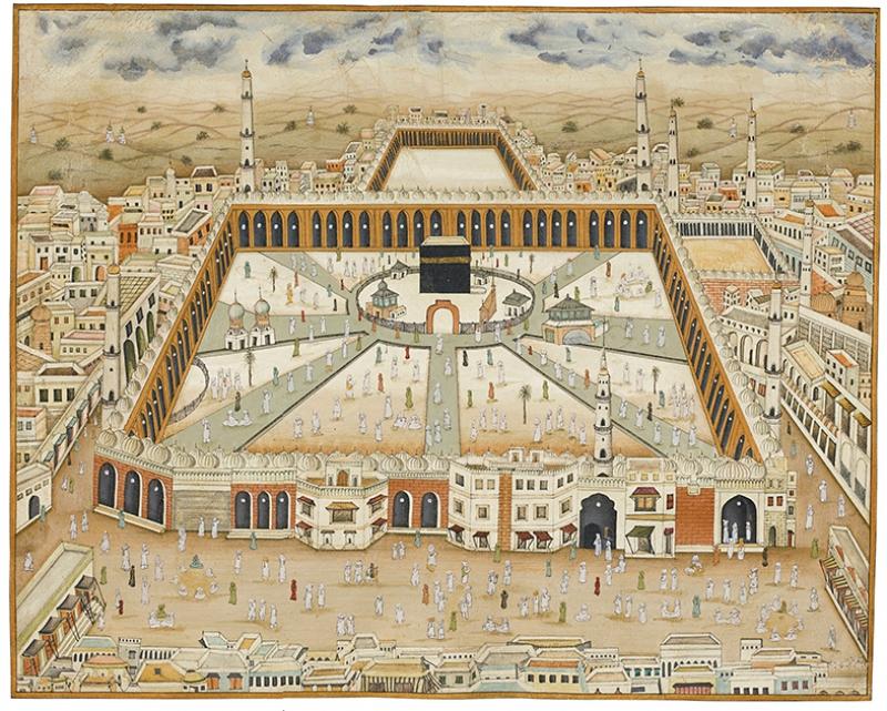Kabe Minyatür Çizimi Dini & İnanç Kanvas Tablo