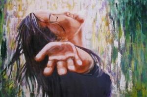 Kader, Su DamlacIkları Modern Sanat Kanvas Tablo
