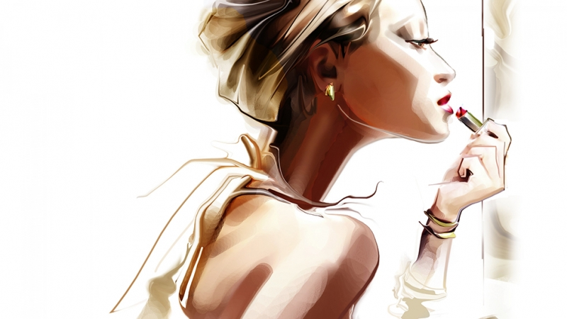 Kadın 2 İllustrasyon Çizim Popüler Kültür Kanvas Tablo