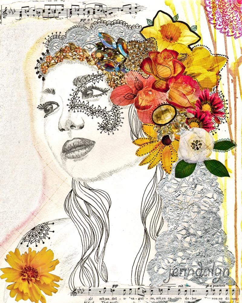 Kadın ve Müzik Yağlı Boya Sanat Kanvas Tablo