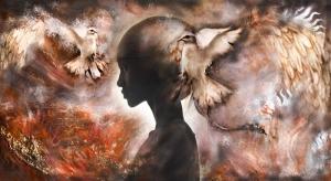 Kadın ve Özgürlük Yağlı Boya Sanat Kanvas Tablo