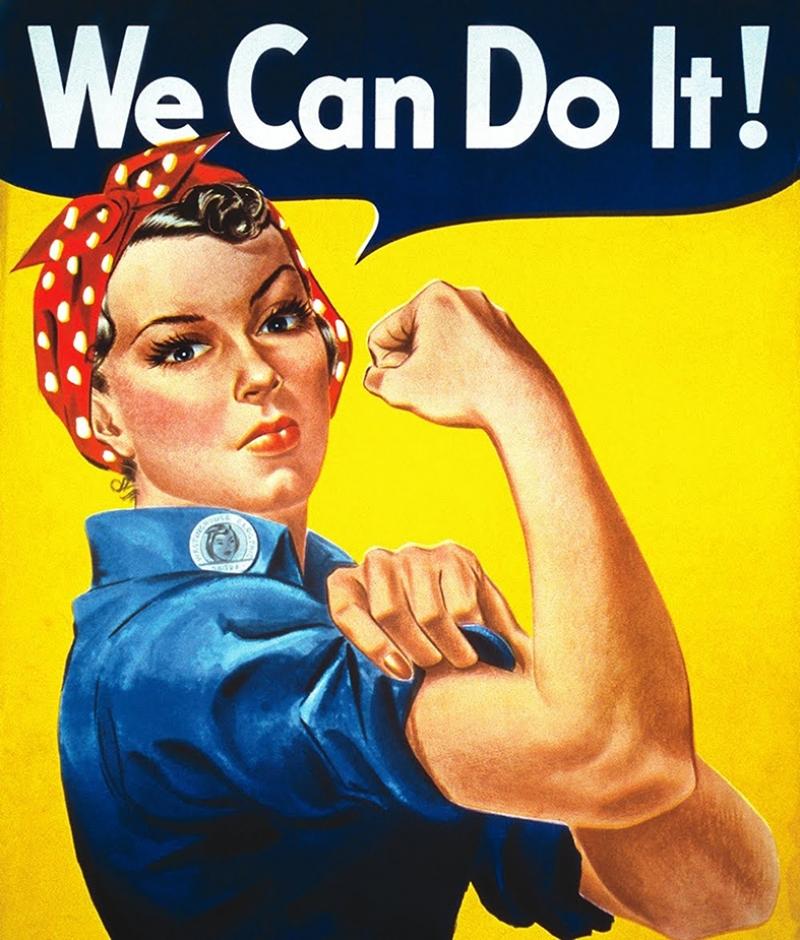 Kadının Gücü Popüler Kültür Kanvas Tablo