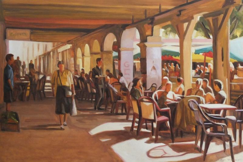 Kafe 3 Modern Yağlı Boya Sanat Kanvas Tablo