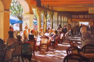 Kafe 4 Modern Yağlı Boya Sanat Kanvas Tablo