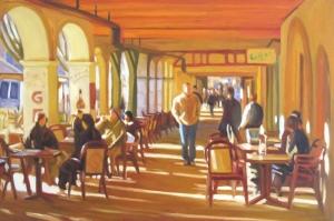 Kafe 6 Modern Yağlı Boya Sanat Kanvas Tablo
