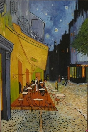 Kafe Terası Sanat Kanvas Tablo