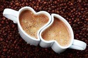 Kahve Çekirdeği ve Kupa Fincanı Aşk & Sevgi Kanvas Tablo