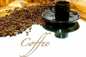Kahve Cekirdekleri Ve Bir Fincan Kahve 3 Lezzetler Kanvas Tablo