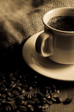 Kahve Cekirdekleri Ve Bir Fincan Kahve 5 Lezzetler Kanvas Tablo