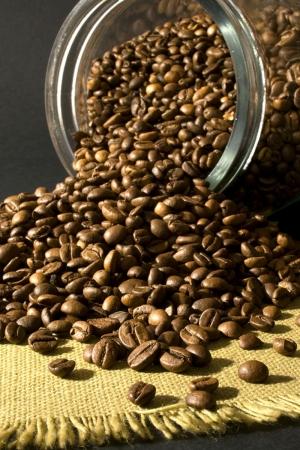 Kahve Cekirdekleri Ve Bir Fincan Kahve 7 Lezzetler Kanvas Tablo