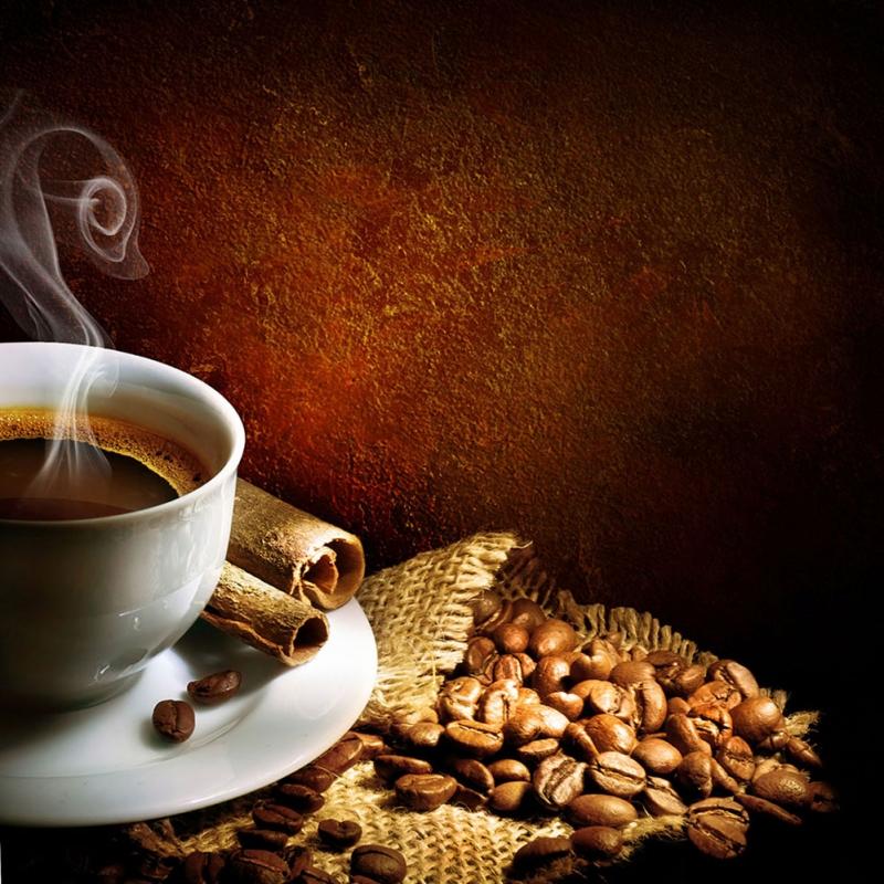 Kahve Cekirdekleri Ve Bir Fincan Kahve 9 Lezzetler Kanvas Tablo