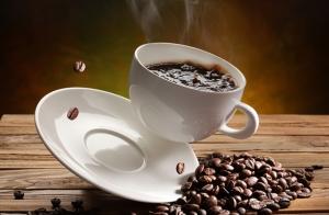Kahve Fincanı ve Kahve Çekirdekleri 2 Lezzetler Kanvas Tablo