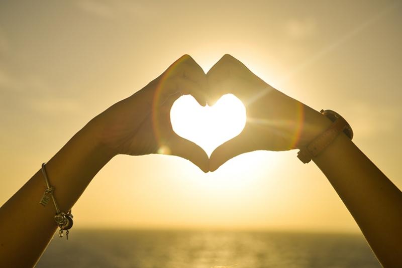 Kalp Yapan Eller Aşk & Sevgi Kanvas Tablo