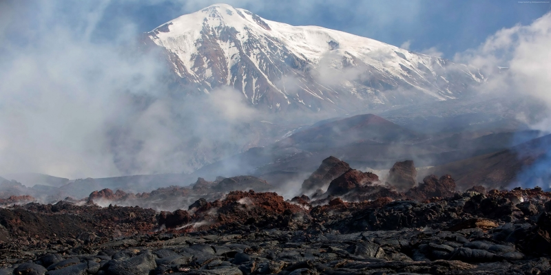 Kamchatka Rusya Volkanik Kayalar HD Doğa Manzaraları Kanvas Tablo