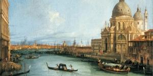 Kanala Giriş San Marco Venedik İtalya Deniz Şehir Manzaralari 16 Sanat Kanvas Tablo