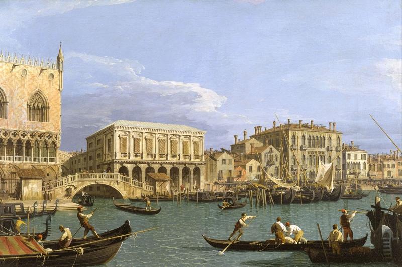 Kanala Giriş San Marco Venedik İtalya Deniz Şehir Manzaralari 2 Sanat Kanvas Tablo