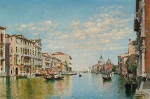 Kanala Giriş San Marco Venedik İtalya Deniz Şehir Manzaralari 5 Sanat Kanvas Tablo