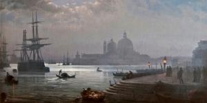 Kanala Giriş San Marco Venedik İtalya Deniz Şehir Manzaralari 8 Sanat Kanvas Tablo