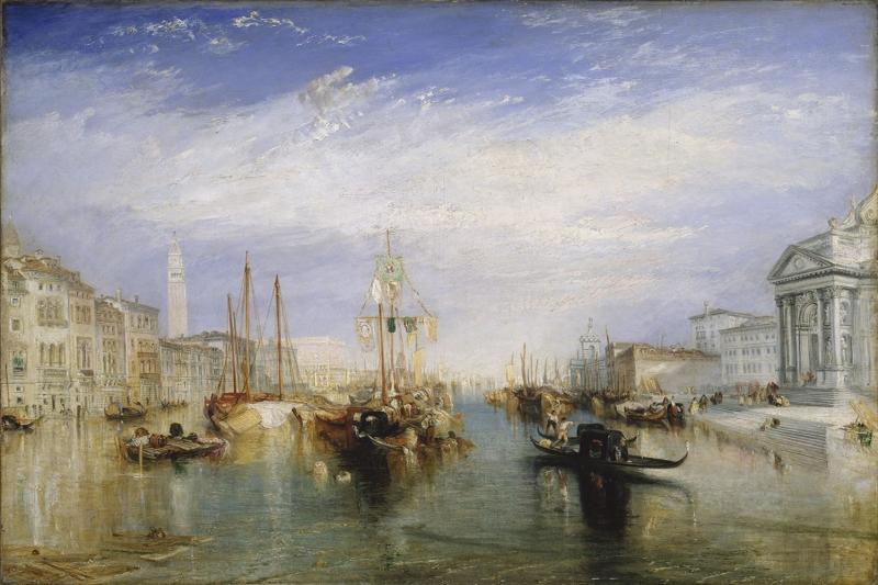 Kanala Giriş Turner J M V San Marco Venedik İtalya Deniz Şehir Manzaraları 2