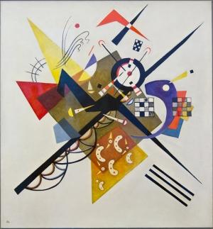 Kandinsky Auf Weiss II Yağlı Boya Sanat Kanvas Tablo