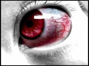 Kanlı Göz Fotoğraf Kanvas Tablo