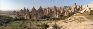 Kapadokya Urgup Panaroma Panaromik Manzara Kanvas Tablo