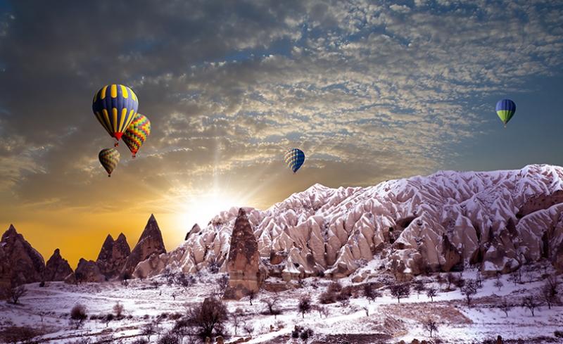 Uchisar Area, Cappadocia, Turkey  № 1427749 бесплатно
