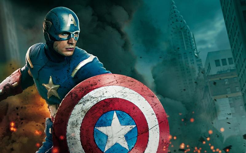 Kaptan Amerika Marvel-2 Süper Kahramanlar Kanvas Tablo