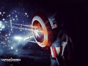 Kaptan Amerika Marvel Süpar Kahramanlar Kanvas Tablo