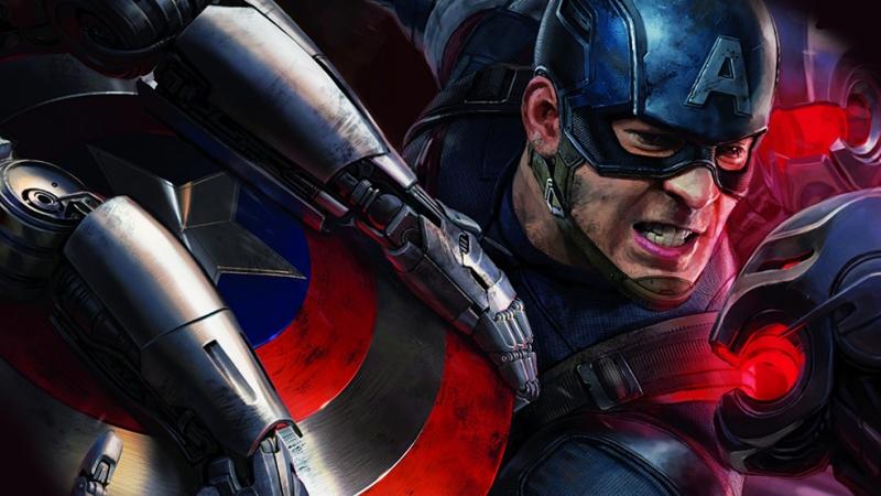 Kaptan Amerika Sinema Kanvas Tablo