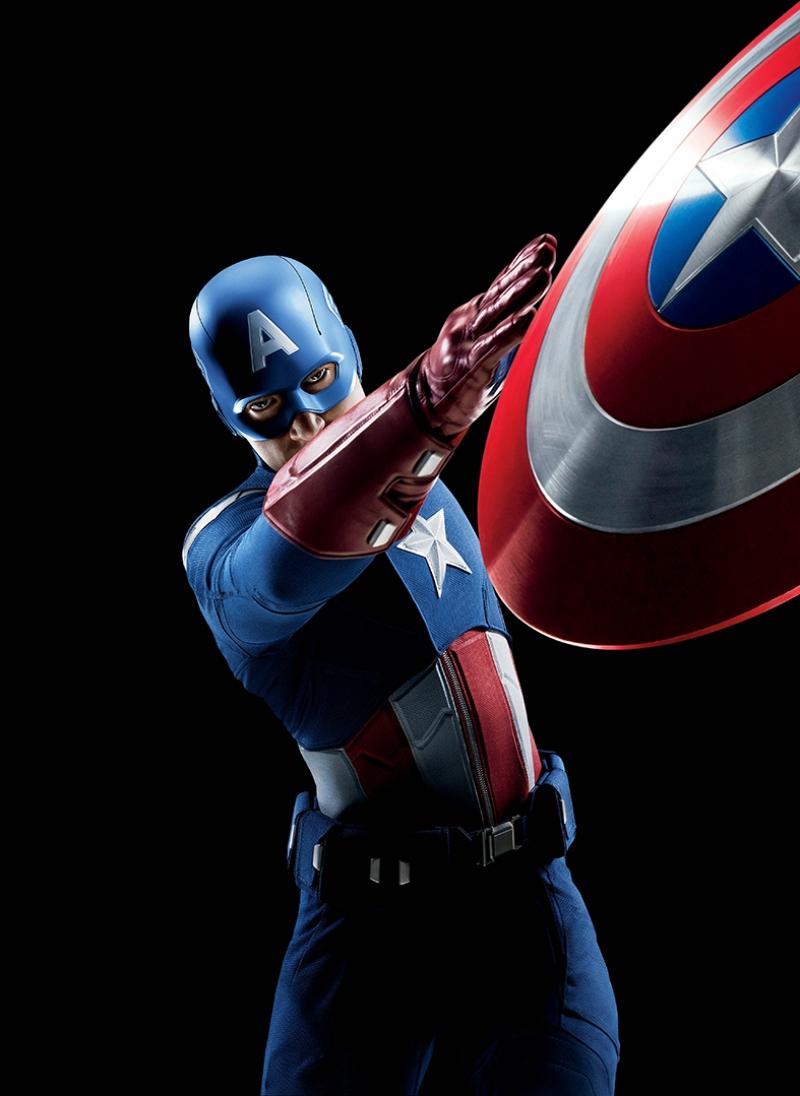 Kaptan Amerika Süper Kahramanlar Kanvas Tablo