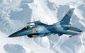 Kar Savaş Askeri F16 Uçak Jet Kanvas Tablo