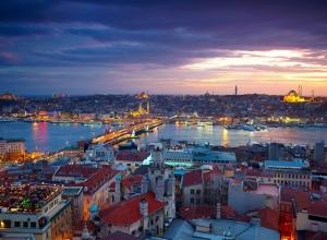 Karaköy İstanbul Dünyaca Ünlü Şehirler Kanvas Tablo