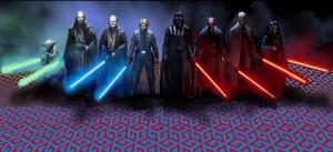 Karakterler ve Işın Kılıçları Star Wars Kanvas Tablo