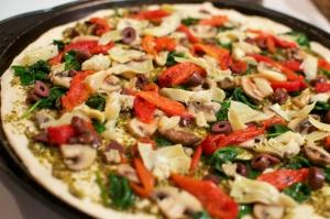 Karışık Pizza Resmi Orta Boy Pizza Lezzetler Kanvas Tablo