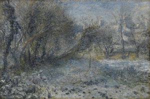 Karla Kaplı Yeryüzü, Pierre August Renoir, Snow Covered Landscape Klasik Sanat Kanvas Tablo