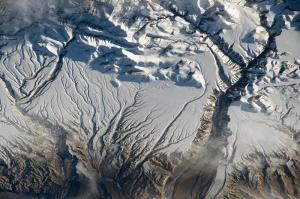 Karlı Dağlar Fotoğraf Kanvas Tablo