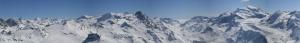 Karlı Tepeler Panaromik Kanvas Tablo