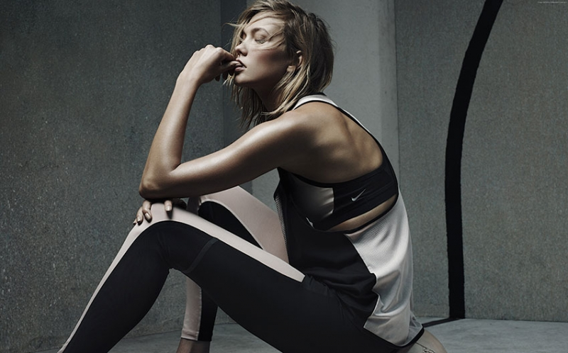Karlie Kloss Spor Kanvas Tablo