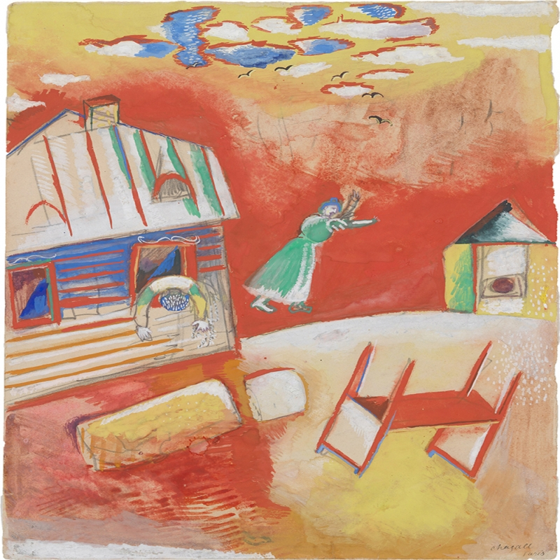 Kavga Marc Chagall Quarrel Klasik Sanat Kanvas Tablo