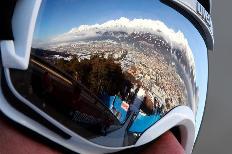 Kayak Kış Kar Gözlük Kanvas Tablo