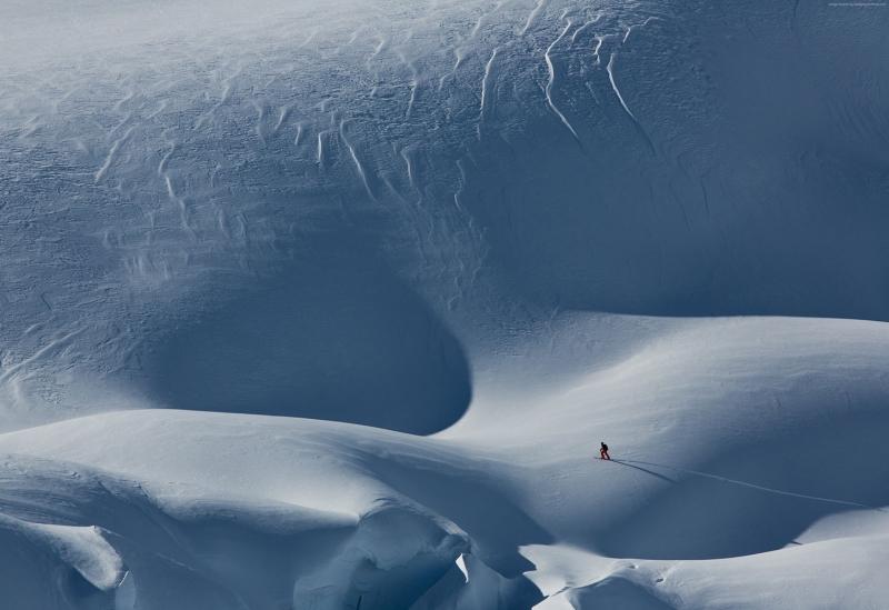 Kayak Snowboard Avusturya Doğa Manzaraları Kanvas Tablo
