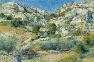 Kayalıklar, Pierre August Renoir Rocky Crags At L'Estaque Klasik Sanat Kanvas Tablo