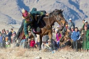 Kazak Türkleri Cirit Oyunu 3 Fotoğraf Kanvas Tablo
